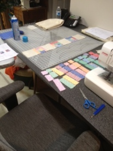 6 baby quilt layout