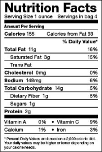 2013 Nutritional Label 2